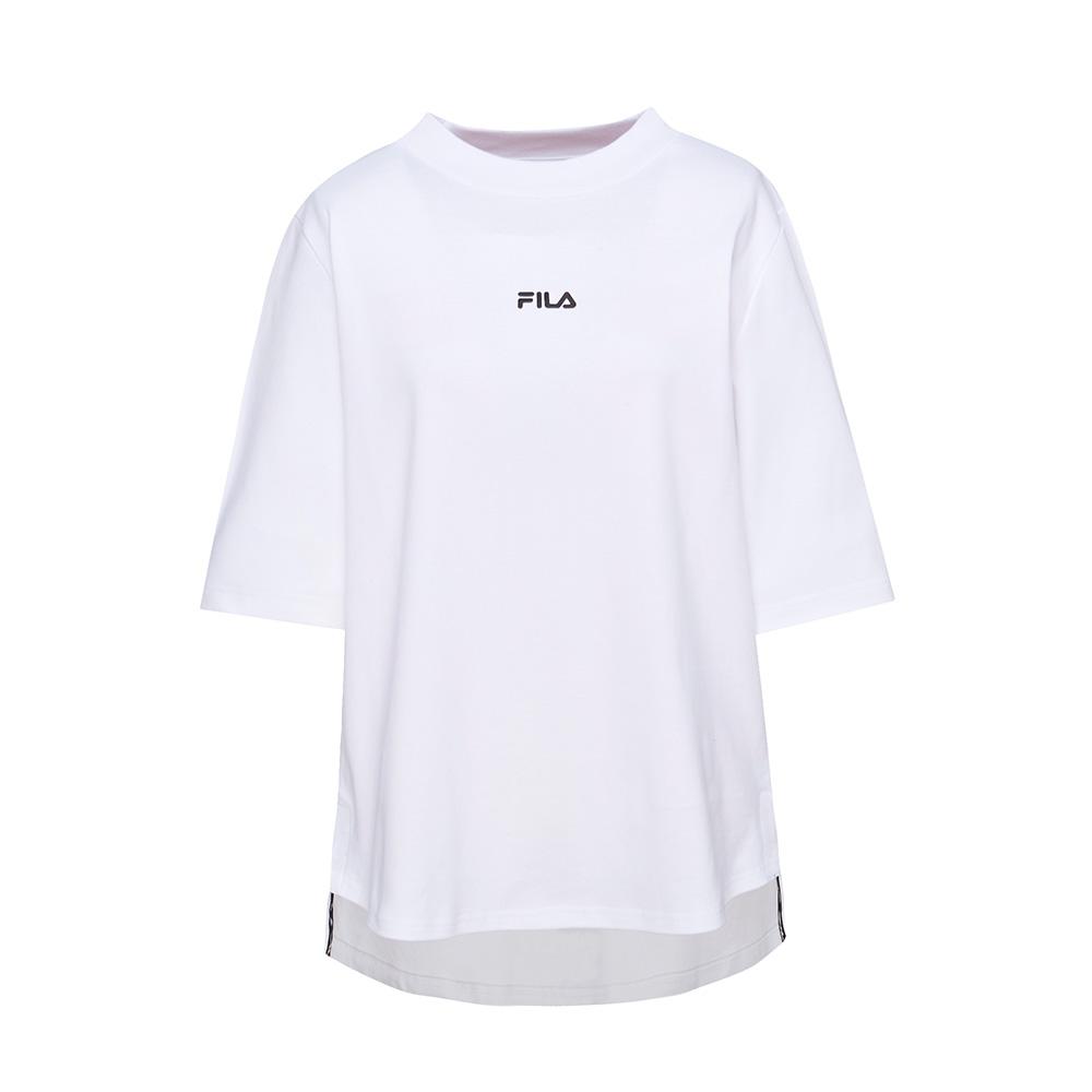 FILA #漢城企劃 短袖純棉圓領T恤-白 5TET-1422-WT