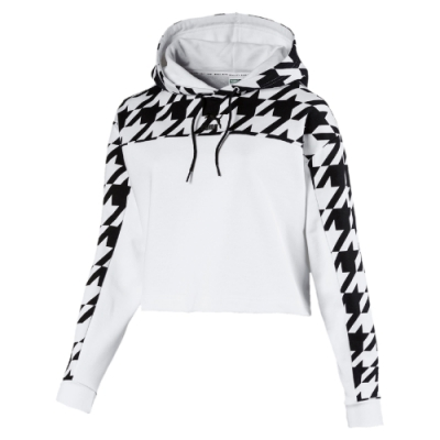 PUMA-女性流行系列Trend長厚連帽T恤-白色-歐規