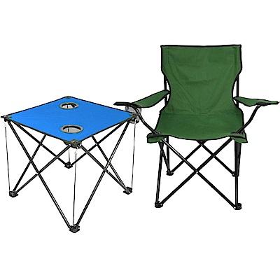 輕量摺疊桌椅組(一桌一椅)