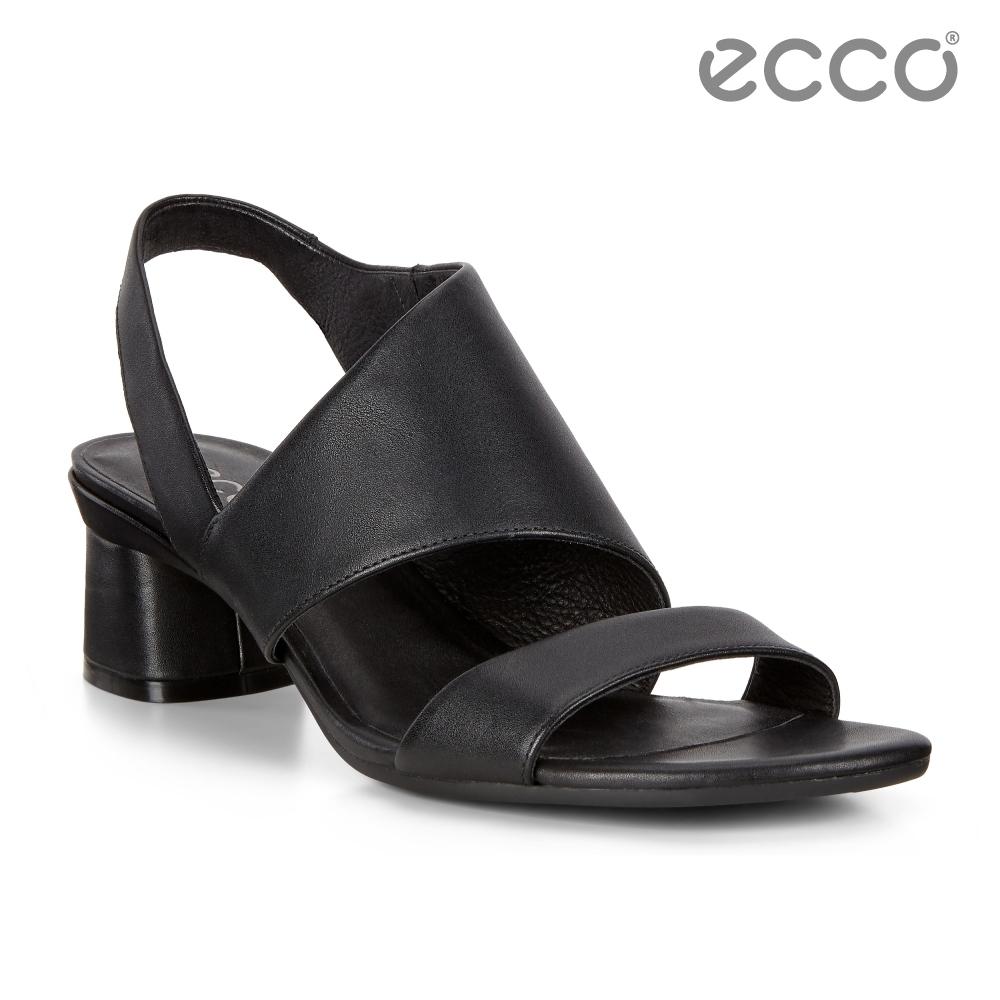 ECCO ELEVATE 45 BLOCK SANDAL 時尚美背高跟涼鞋 女鞋-黑