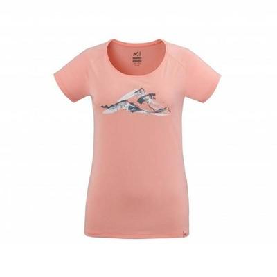 MILLET 女 TANA短袖排汗衣 粉橘-MIV86458784