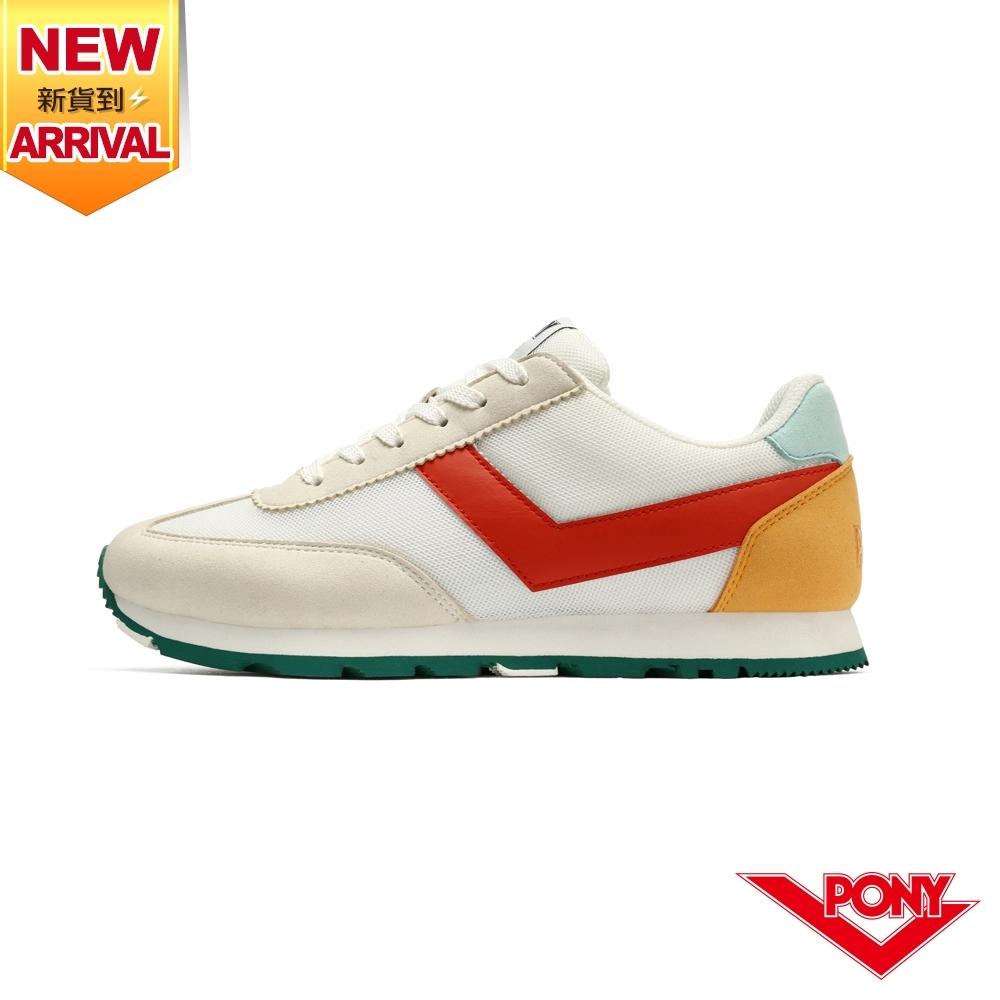 【PONY】SOHO 復古慢跑鞋 休閒鞋 女鞋-白紅