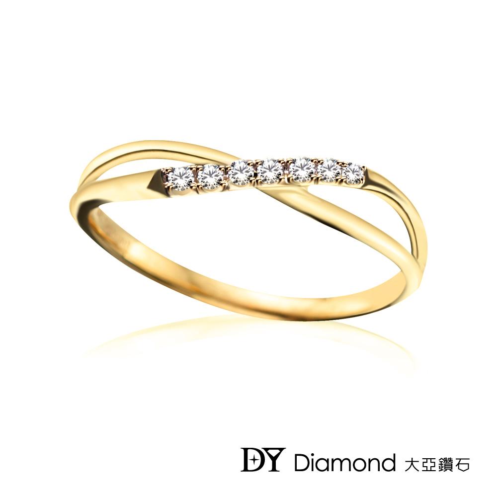 DY Diamond 大亞鑽石 L.Y.A輕珠寶 18黃K金 交織 鑽石線戒