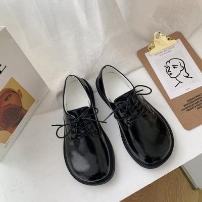 KEITH-WILL時尚鞋館 英倫風復古淑女皮鞋-黑