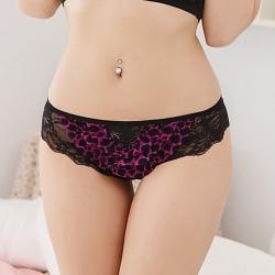 情趣內褲 波紋荷葉性感內褲-紫La Queen