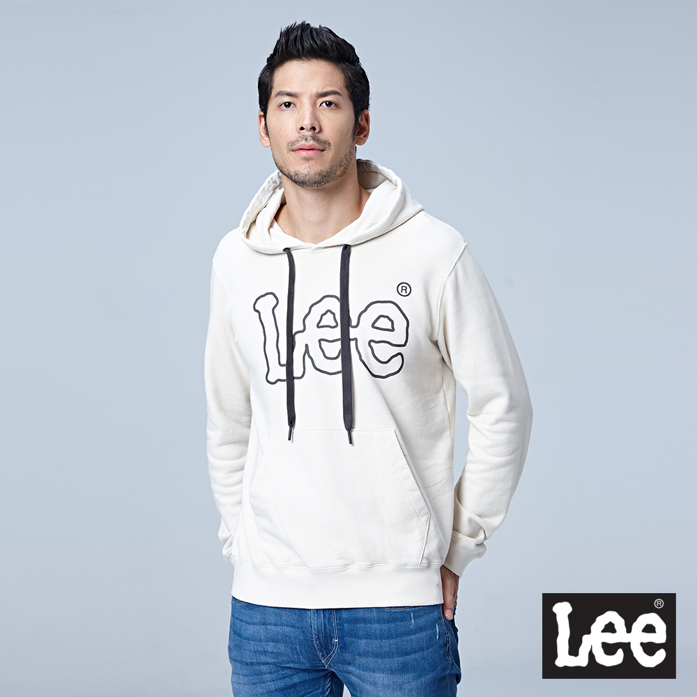 Lee 大LOGO圓領厚TEE/RG-白色