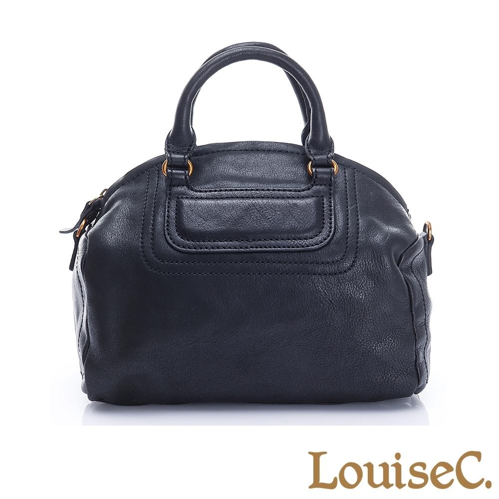 LouiseC.牛皮立體水餃包-黑色 (BSZP-1099A-05)