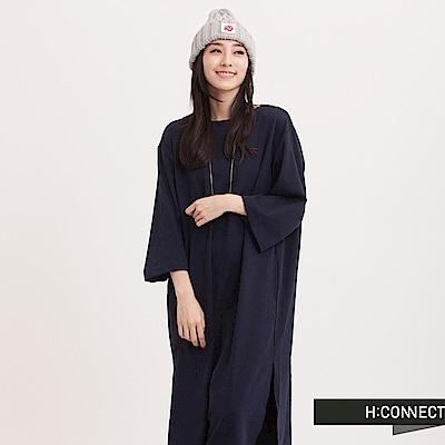 H:CONNECT 韓國品牌 女裝 - 環扣織帶棉洋裝-藍(快)