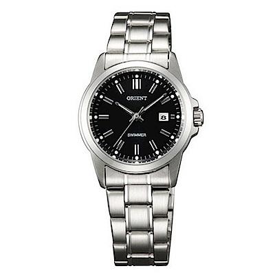 ORIENT東方錶 秀麗新氣質石英女錶鋼帶(SSZ3W003B0)-黑面x27mm