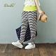 【Dailo】口袋暗夜星星條紋寬鬆-長褲(二色)