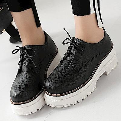韓國KW美鞋館 賣瘋了活力甜心英倫休閒鞋-黑色