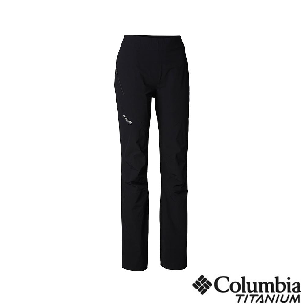 Columbia 哥倫比亞 女款-鈦 UPF50防潑長褲-黑色 UAR26820