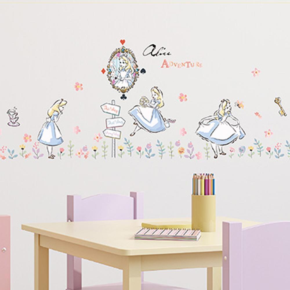愛麗絲夢遊仙境系列創意壁貼