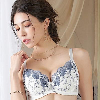 EASY SHOP-花夜瀰漫 B-D罩成套內衣(晶瑩白)