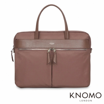 KNOMO 英國 Hanover 簡約手提公事包 - 藕紫 14 吋