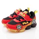 FILA頂級童鞋 賽車電燈鞋款 FO56U-029紅黑(中小童段)