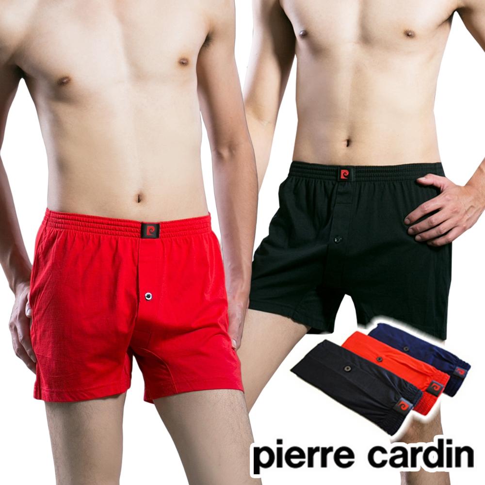 [時時樂限定]Pierre Cardin皮爾卡登 吸濕排汗針織四角褲(6件組)