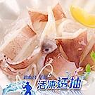 【愛上新鮮】A級手釣船凍切圈透抽10盒組(250g±10%/盒)
