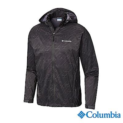 Columbia 哥倫比亞 男款-UPF50防潑水風衣-深灰 UKE00720