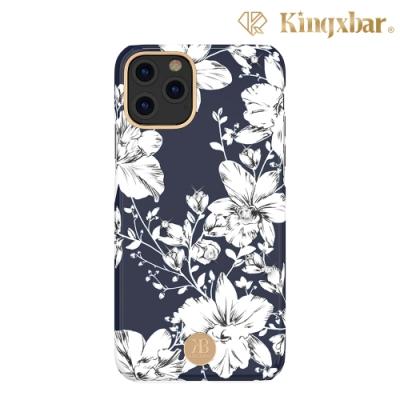 Kingxbar iPhone 11 Pro施華洛世奇水鑽保護殼-百合