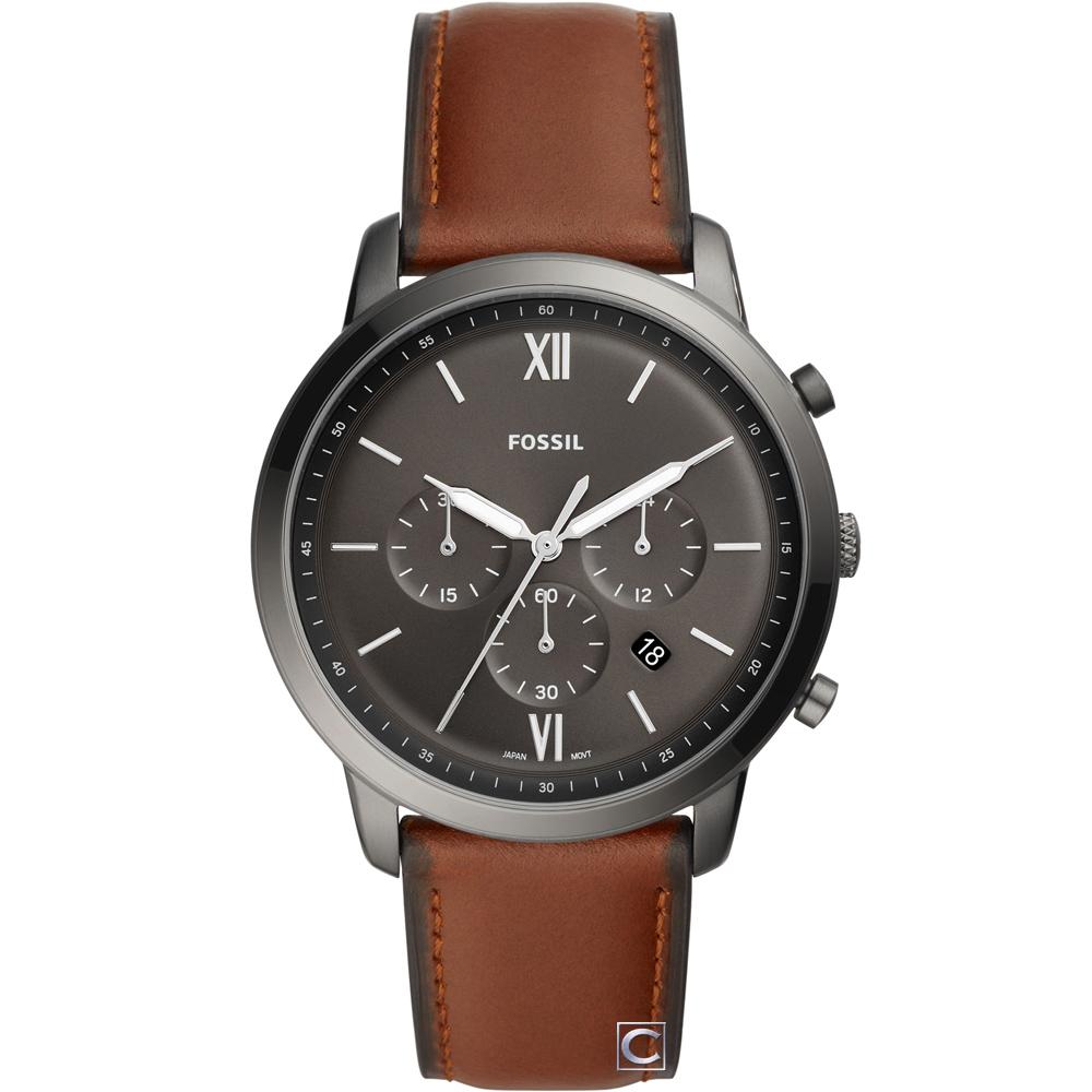 FOSSIL Neutra 優雅時尚皮革手錶(FS5512)44mm