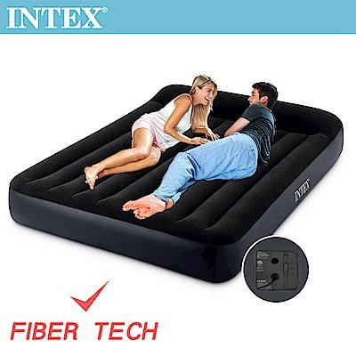 INTEX 舒適雙人(FIBER TECH)內建電動幫浦充氣床-寬152cm(64149)