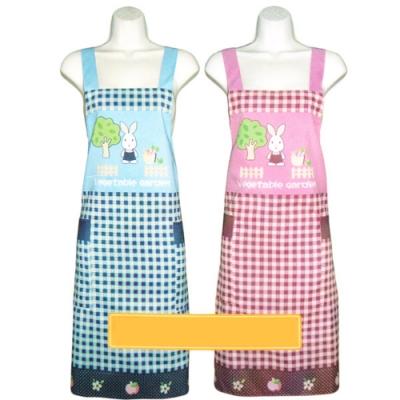 莊園兔格紋防水圍裙/布花熊防水圍裙-4件入