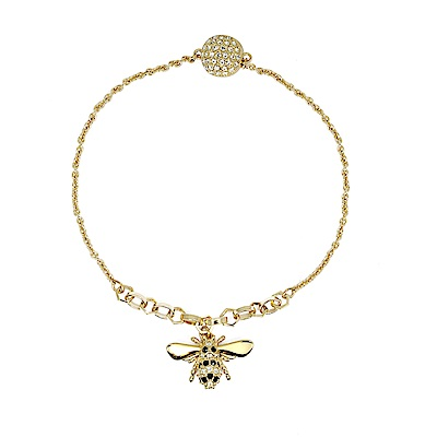 SWAROVSKI 施華洛世奇 REMIX COLLECTION BEE璀璨蜜蜂水晶金手鍊