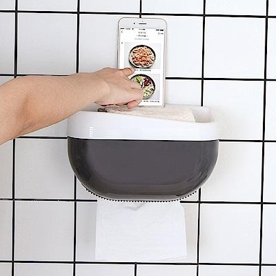 E.City_無痕免釘多功能紙巾手機置物盒