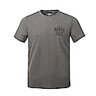 The North Face北面男款灰色印花吸濕透氣短袖T恤|3RGMDYY
