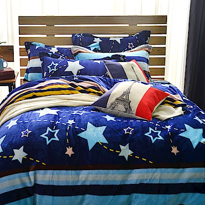 Grace Life 流星 單人法蘭絨被套床包三件組