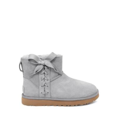 UGG雪靴 經典Lace緞帶蝴蝶結短靴