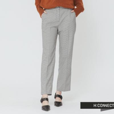 H:CONNECT 韓國品牌 女裝 -俐落格紋西裝褲-灰(快)