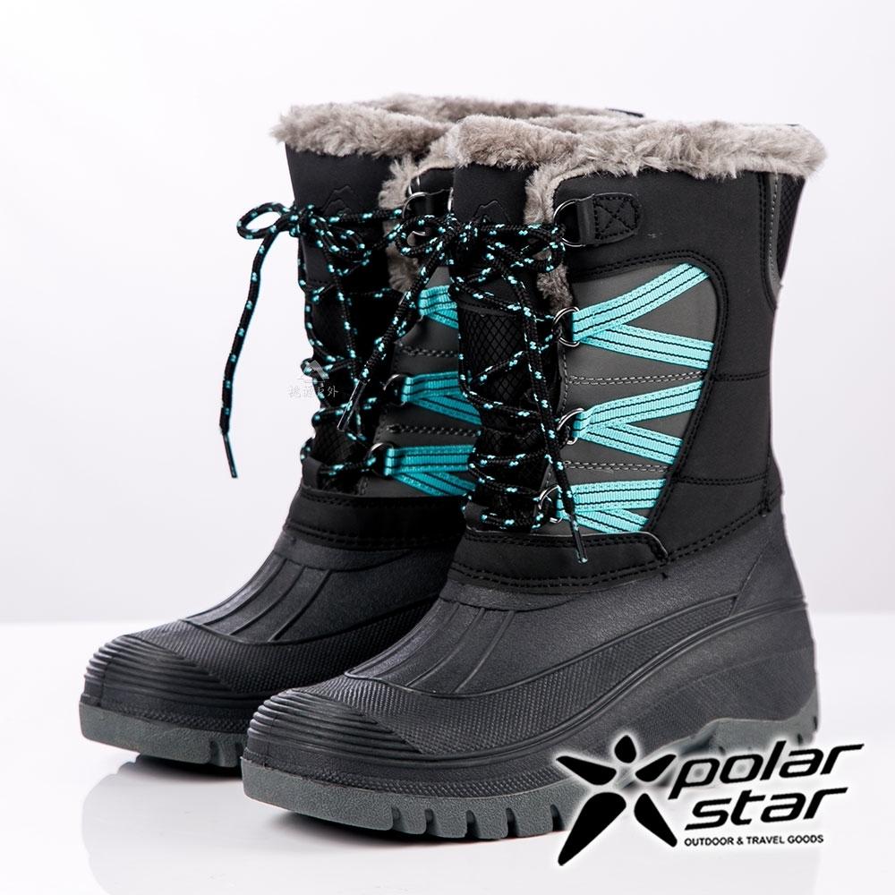 PolarStar 女防潑水保暖雪鞋│雪靴│保暖靴『黑』P19635