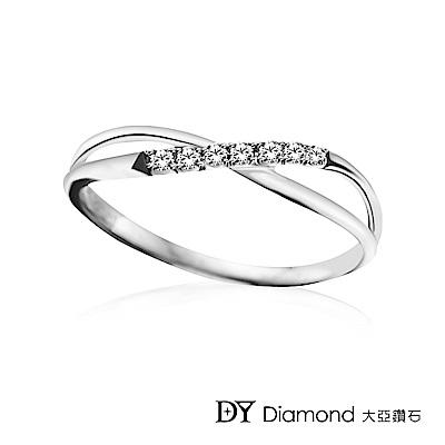 DY Diamond 大亞鑽石  L.Y.A輕珠寶 18K白金  交織 鑽石線戒