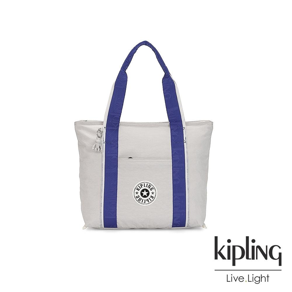 Kipling 都會時尚象牙白大容量手提包-ERA M