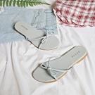 KEITH-WILL時尚鞋館 破盤價初夏涼氛平底涼拖鞋 藍
