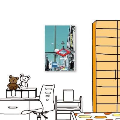 24mama掛畫-單聯式 攝影 城市街景 無框畫 40X60cm-標示