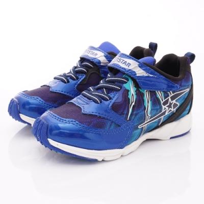 日本月星頂級競速童鞋 勝戰獸運動鞋 EI905藍(中大童段)
