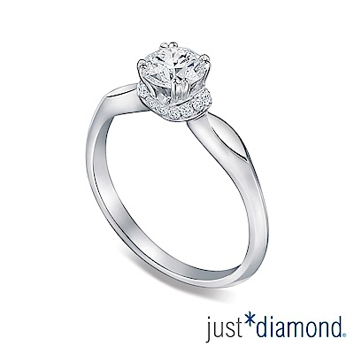 (無卡分24期) Just Diamond 珍愛圍繞 GIA 0.5克拉18K金鑽石戒指