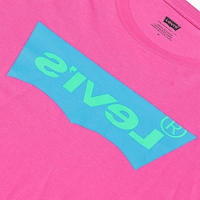 Levis 男款 短袖T恤 翻玩夏日Logo T 鏡像高密度膠印Logo