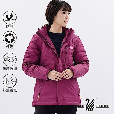 【遊遍天下】女款防風透濕保暖無車縫羽絨機能外套GJ22007酒紅