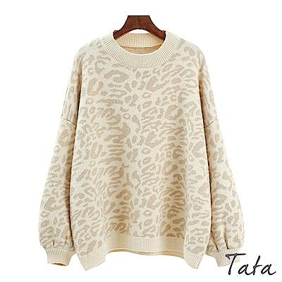 豹紋針織上衣 共三色 TATA