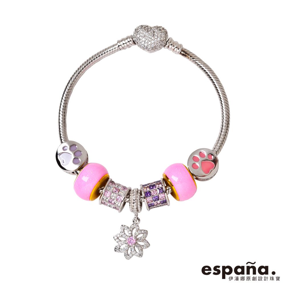 ESPANA伊潘娜 寵愛一生黃金/純銀/琺瑯串珠手鍊
