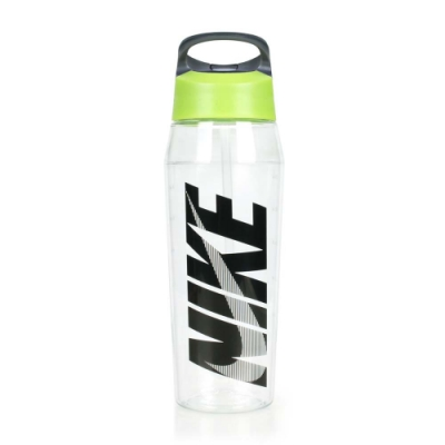 NIKE TR吸管式水壺 32OZ 透明黑綠