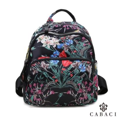 CABACI 花系列輕量尼龍材質後背包-百草花卉