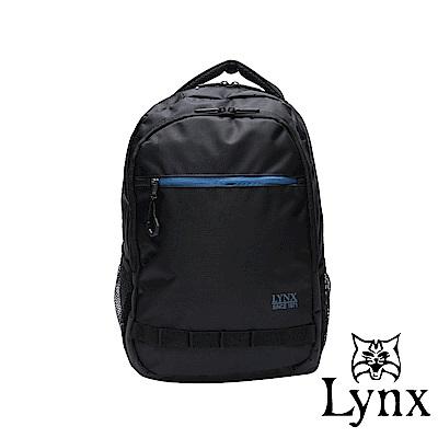 Lynx - 美國山貓商務休閒款防潑水耐磨機能後背包-黑色