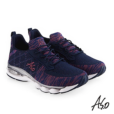 A.S.O 活力雙核心 撞色底台時尚風休閒鞋 深藍