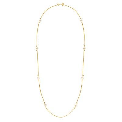 Kiel James Patrick 美國手工 經典優雅珍珠金色長項鍊