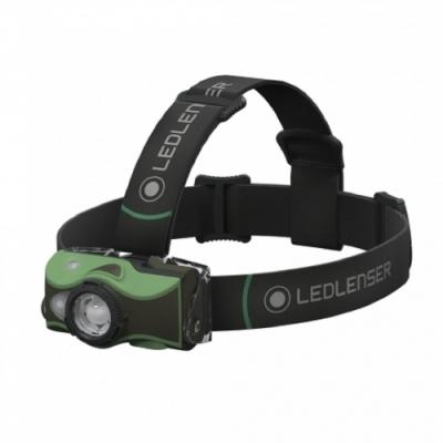 LED LENSER MH8 專業伸縮調焦充電型頭燈 600流明 黑/綠
